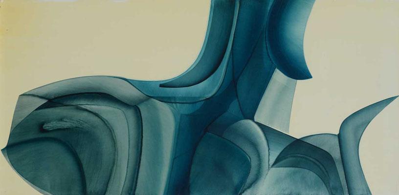 98 x 48 cm, huile sur panneau, 1978