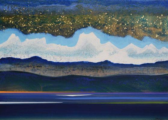 98 x 68 cm, huile sur papier, 2000