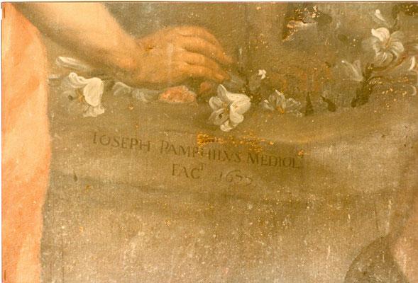 Nuvolone, Pamphilus, prima del restauro