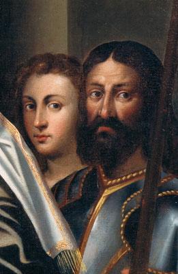 attr. Sebastiano Del Piombo, particolare dopo il restauro