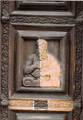 portale ligneo  Sec XVII, Gavardo (Bs)