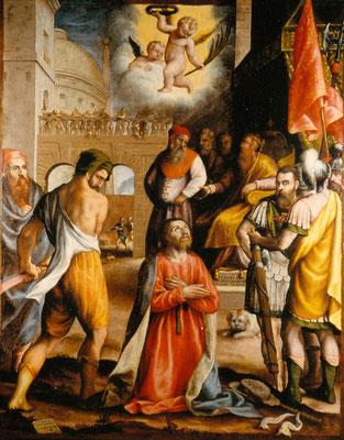 Rezzato (Bs) Chiesa di San Giacomo, Bagnadore, Sec. XVI, Martirio di S. Giacomo dopo il restauro