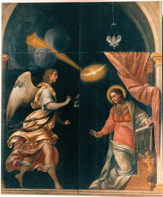 Brescia, Chiesa di S. Agata, Ottavio Amigoni l' Annunciazione dopo il restauro