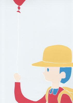 広島のイラストレーター、絵本作家であるミヤタタカシ切り絵イラスト「ゆらゆら」