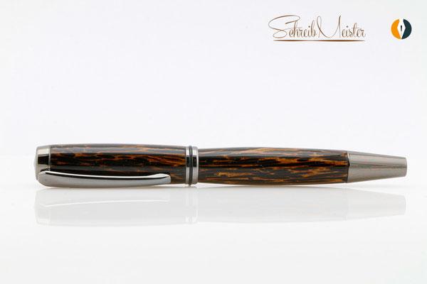 Gedrechselter Füller aus Black Palmira / Schwarzes Palmholz