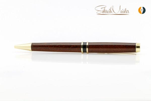 Kugelschreiber aus Bongossi gedrechselt
