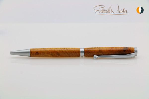 Kugelschreiber aus Cedro / Südamerika - gegen die Maserung gedrechselt