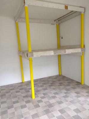 """Die Hochebene benötigt noch einen Aufgang, dann kann sie endlich genutzt werden zum ausgelassenen Toben und als Schlafstätte für die """"Großen"""""""