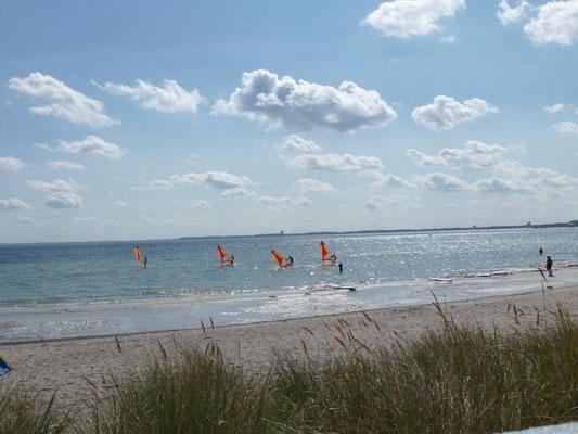 Wind surfen in der Lübecker Bucht