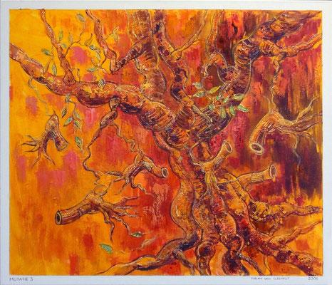de boomrevolver mutatie3, 70-60 cm, oil on canvas
