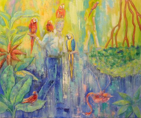 Birdmen, , 120 x 100 cm, oil on canvas
