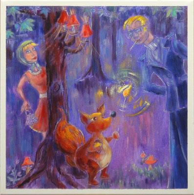 Woudscene, 50 x50 cm, oil on canvas