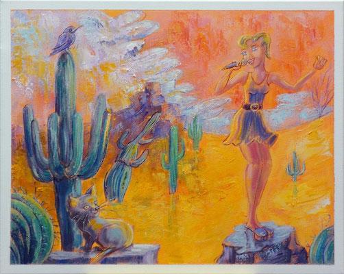 Woestijnsolo, 50-40 cm, oil on canvas
