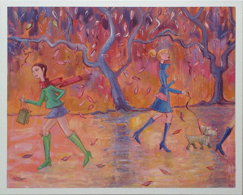 Prille koude, 50-40 cm, oil on canvas
