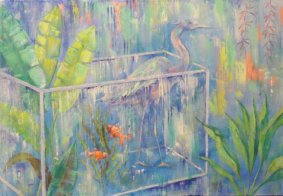 De reiger, 100 x 70 cm, oil on canvas