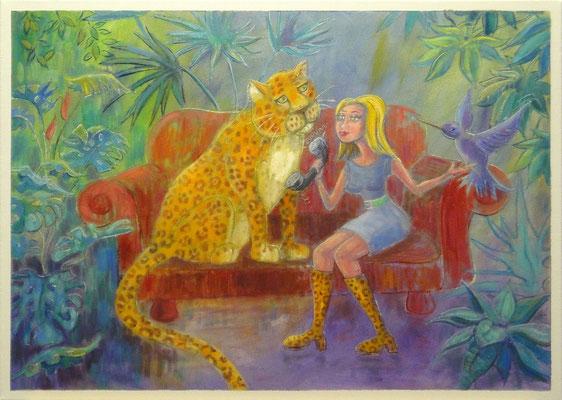Survive, 50x70 cm, oil on canvas