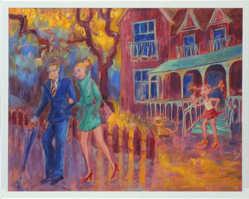Bye..., 50-40 cm, oil on canvas