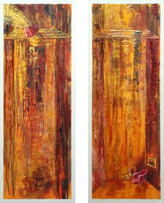Transformation, 30 x 80 cm (each), oil on canvas