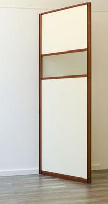 Gleit-Tür mit ummanteltem Profilrahmen ( Wenge)