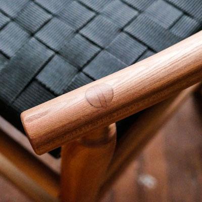 verkeilter Zapfen - handwerkliche Details zur Qualität