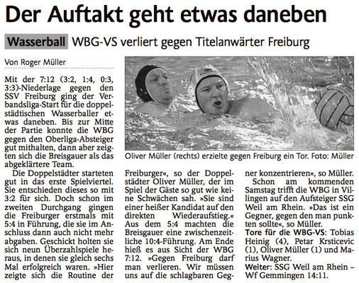 15.11.14 WBG Villingen/Schwenningen vs SSV Freiburg