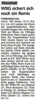 22.11.14 WBG Villingen/Schwenningen vs SSG Weil am Rhein