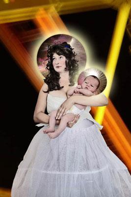 Madonna mit Kind 30x40cm, 2011