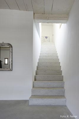 Treppe aus Kalk-/Zementmörtel, Haldenstein