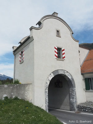 Natürlicher Kalkputz, Wehrturm St. Luzisteig