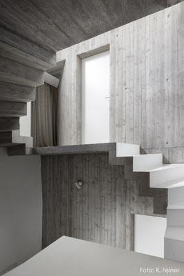 Treppenhaus aus Beton, Fläsch
