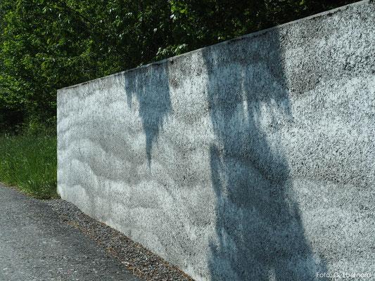 Stampfbetonmauer, Restaurant Mühle Fläsch