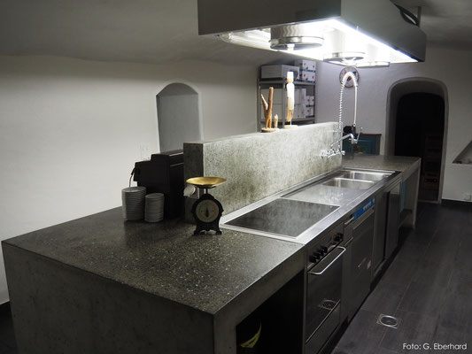 Geschliffene Betonküche, Fläscher Bad