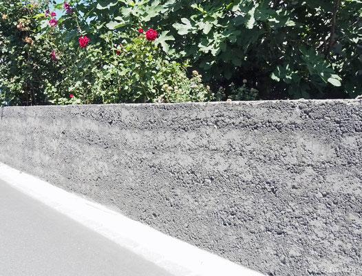 Stampfbetonmauer, Maienfeld