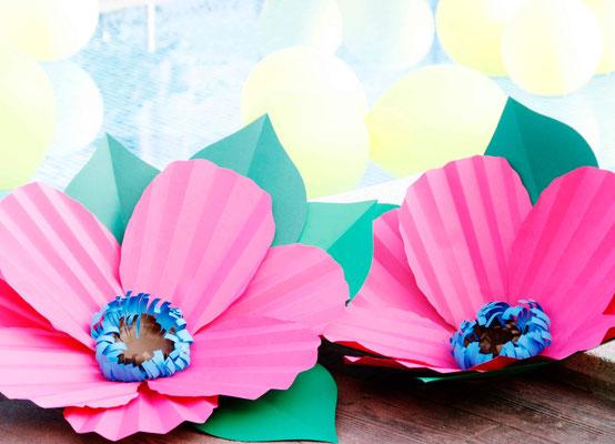 cóctel-S&J-flores-papel-nenufar-globos-piscina