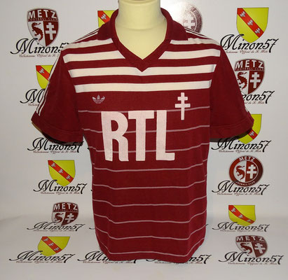 Maillot porté coupe de france 1984 finale 84 fc metz vs AS Monaco