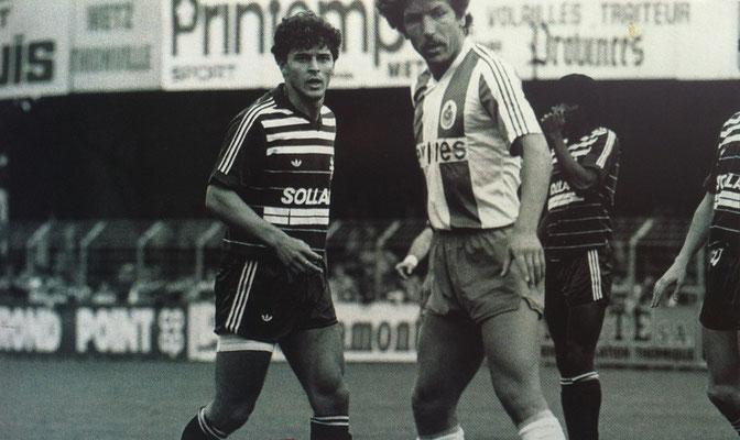 Maillot Porté ou Préparé pour Jean-Marc RODOLPHE du FC Metz porté face au FC porto