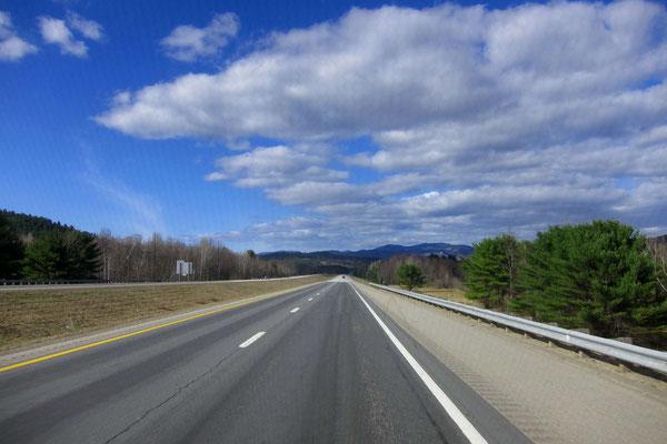 Auf der Interstate 93 durch die White Mountains