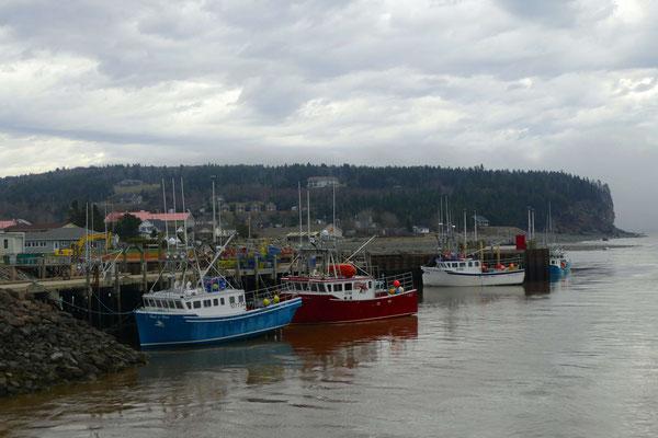 Der Hafen in Alma mit Fischkuttern