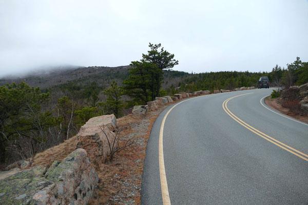Auf der Fahrt zum Cadillac-Mountain
