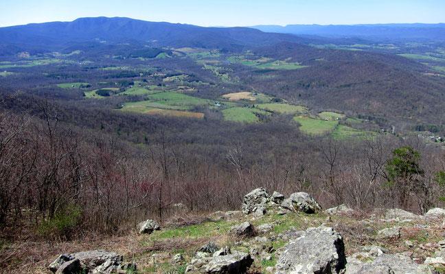 Blick vom Höhenzug in das Shenandoah-Tal