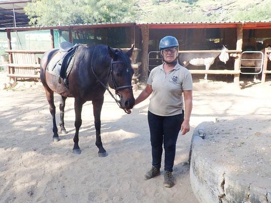 Sam mit meinem Pferd Frosty