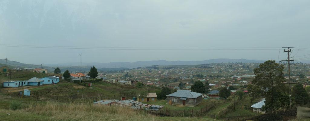 Siedlung auf dem Lande in Kwa Zulu-Natal
