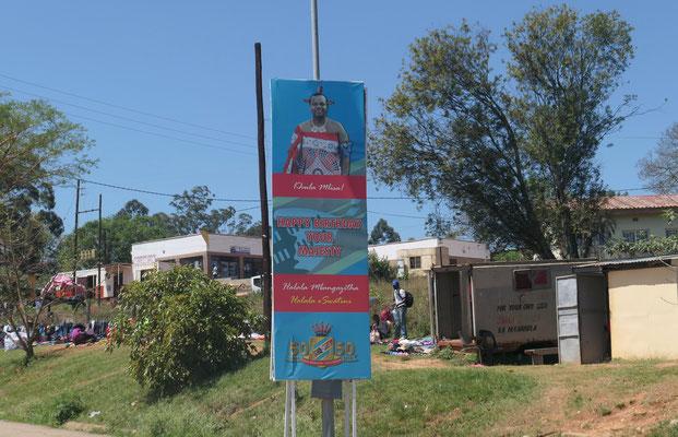 Banner mit König Mwatsi III.