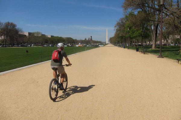 Fahrt Richtung Washington Monument