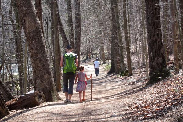 Julie und Mathilda im Rock Creek Park