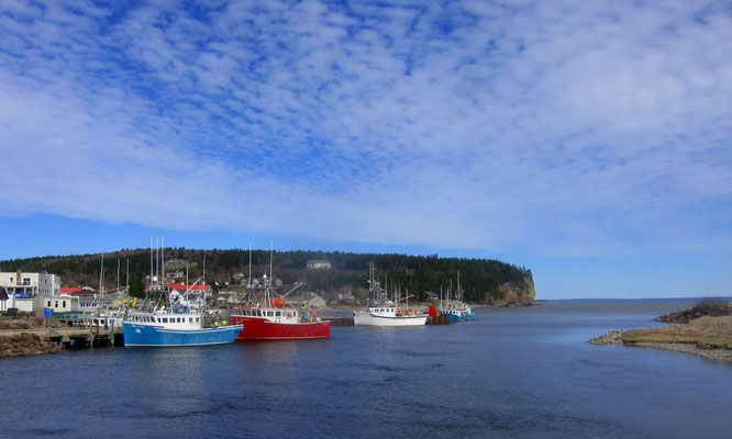 Heute bei Sonnenschein und Flutbedingungen - der Fischereihafen von Alma