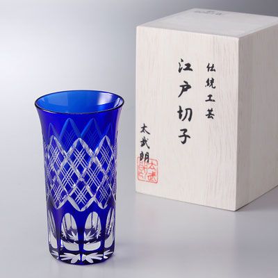 """shot glass"" - blue -"