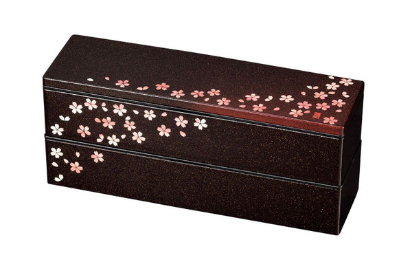 "*Bento-box ""Akane-Sakura"" slim, 2-layer, 840ml"
