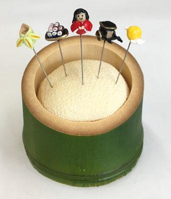 """*Pincushion in Bamboo cup """"Princess Kaguya"""""""
