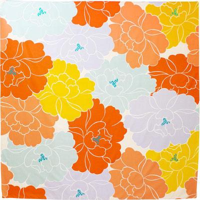 """* 100cm Furoshiki """"Aquadrop - Flowers"""""""